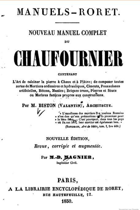 Manuel Chauffournier beton romain