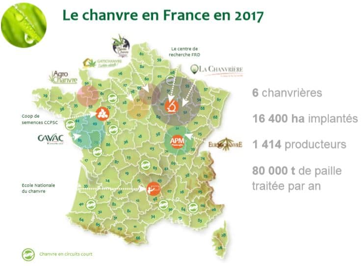 chanvre en france bâtiment